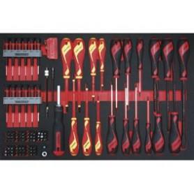 Schroevendraaier- & bitsset 98dlg EVA-tray Teng Tools TTEMB98N