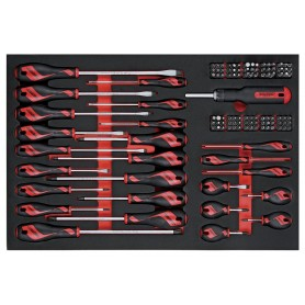 Schroevendraaier- & bitsset 122dlg EVA-tray Teng Tools TTEMD122N
