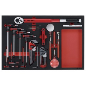Hex sleutel & inspectieset 17dlg EVA-tray Teng Tools TTEX17
