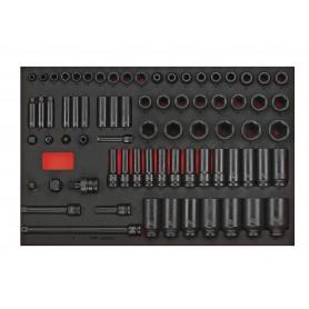 Slagdoppenset 1/2 8-32mm 73dlg EVA-tray Teng Tools TTEISK73
