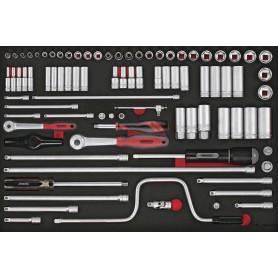 Doppenset & acc. 1/4 & 3/8 4-22mm 86dlg EVA-tray Teng Tools TTESK86