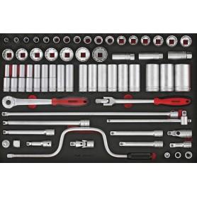 Doppenset & acc 1/2 8-36mm 63dlg EVA-tray Teng Tools TTESK63