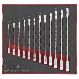 Set van 12 ratel-steekringsleutels Teng Tools TED6512RS