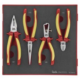 Tangenset geïsoleerd 4 delig TED tray Teng Tools TEDV440