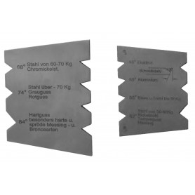 Stalen schroefdraadmeter 55° / 60° MIB DKA-DKB