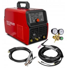 TIG lasinverter AC/DC Pulse 200A + accessoires MW-Tools TIG205PAC