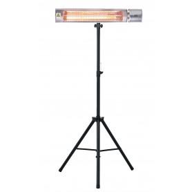 Infraroodstraler 2,0kW met gold lamp en telescopische driepoot MW-Tools IRS20GVD