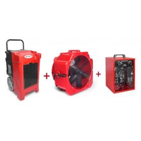 MW-Tools BDE90SETAH Set bouwdroger BDE90 + ventilator MV500PP + heater