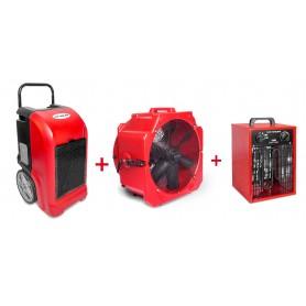 MW-Tools BDE70SETAH Set bouwdroger BDE70 + ventilator + heater