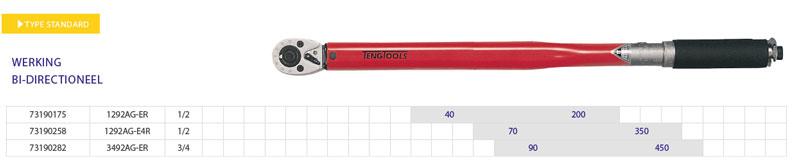 gereedschap teng tools momentsleutel bi directioneel 40-200nm 73190258